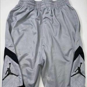 Air Jordan Men's Silver/Black Basketball Shorts
